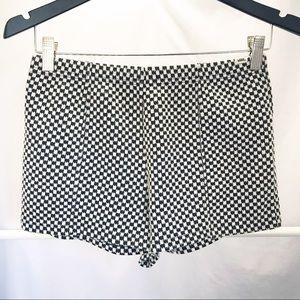 VANS Black White Checker Knit Hot Pants Shorts